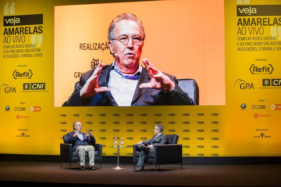 Nizan Guanaes, fundador do Grupo ABC, foi entrevistado pelo redator-chefe de VEJA e titular da coluna Radar, Mauricio Lima - 24/04/2018