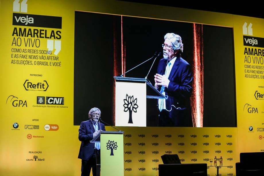 O diretor de redação de VEJA, André Petry, abriu a segunda edição do fórum Amarelas ao Vivo, que ocorreu nesta terça 24, em São Paulo - 24/04/2018