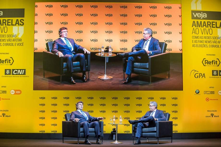 Luiz Fux, ministro do STF e presidente do TSE, foi entrevistado pelo redator-chefe de VEJA Policarpo Junior - 24/04/2018