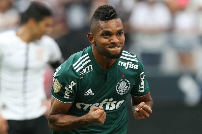 O atacante Borja do Palmeiras