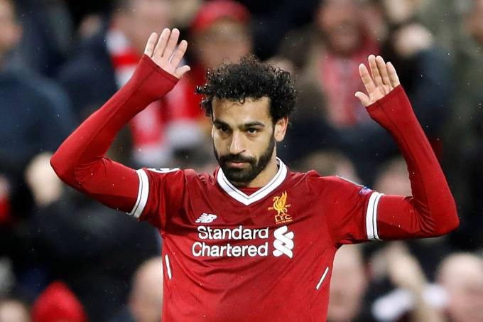 O atacante egípcio Mohamed Salah do Liverpool