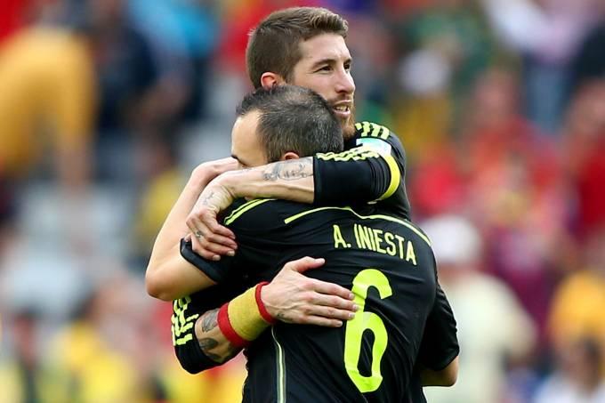 Sergio Ramos e Andres Iniesta