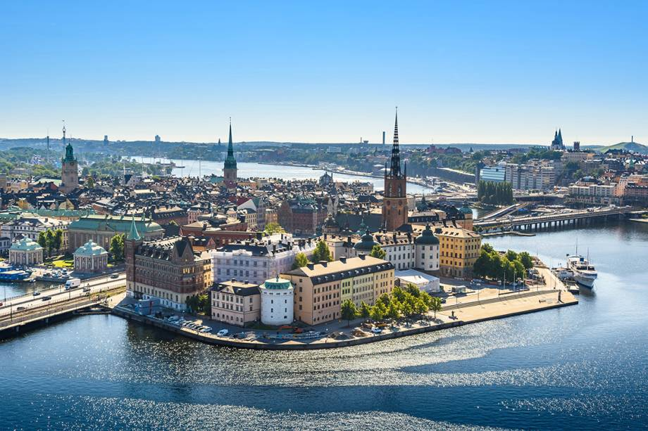 Vista de Estocolmo, na Suécia