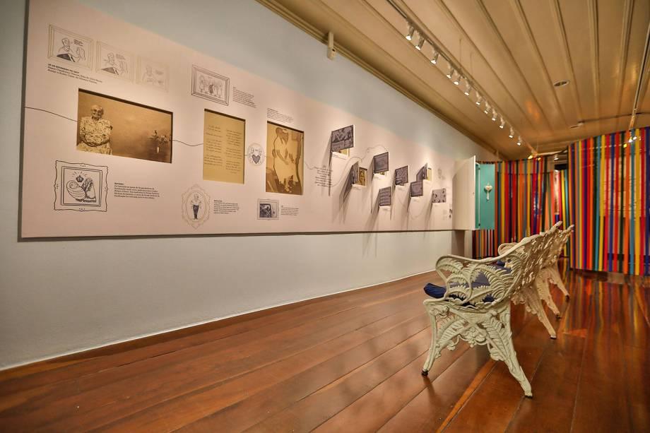 Ambiente da exposição em homenagem a Dona Canô, mãe de Caetano e Bethânia