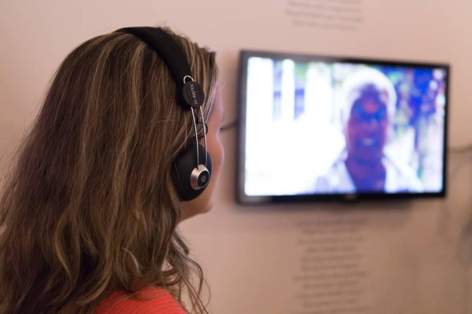 Exposição tem vídeos com depoimentos sobre Dona Canô