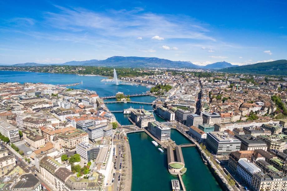 Vista de Genebra, na Suíça