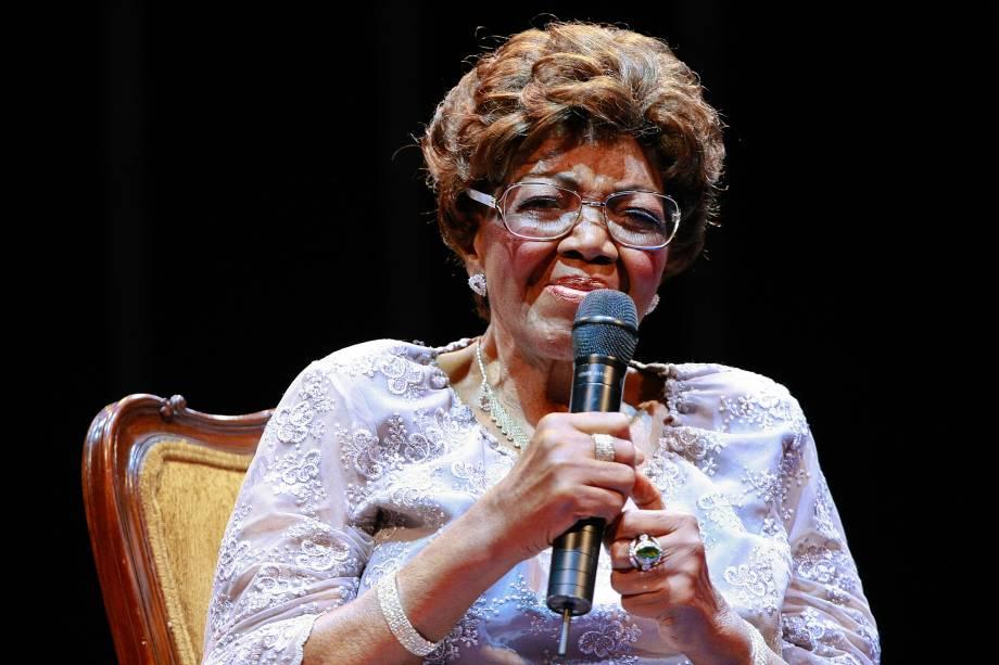 Dona Ivone Lara durante o prêmio da música brasileira em 2010 no Teatro Municipal do Rio de Janeiro