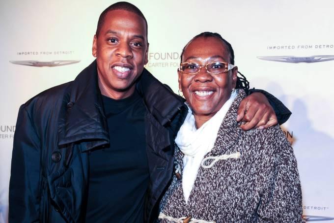Jay Z e sua mãe Gloria Carter
