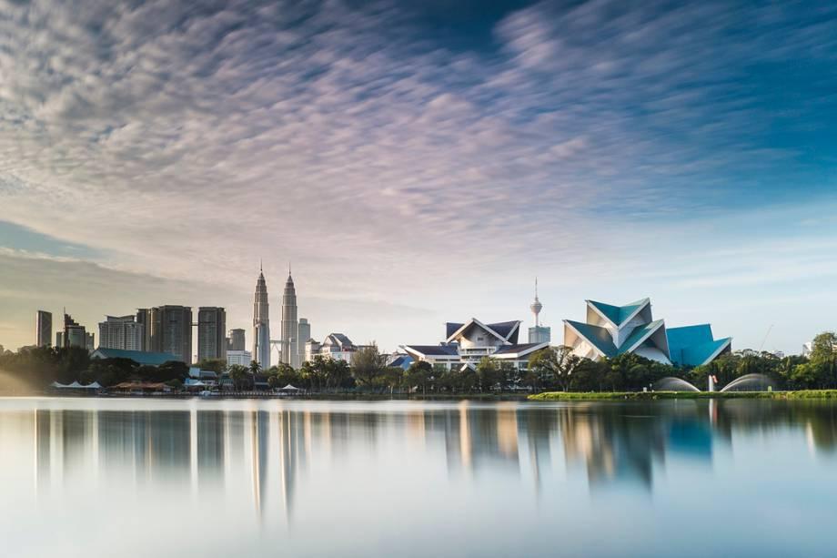Vista de Kuala Lumpur, na Malásia