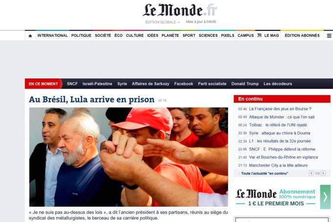 Imprensa internacional repercute prisão de Lula