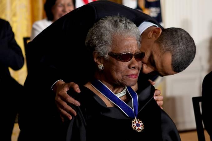 Baarack Obama e Maya Angelou