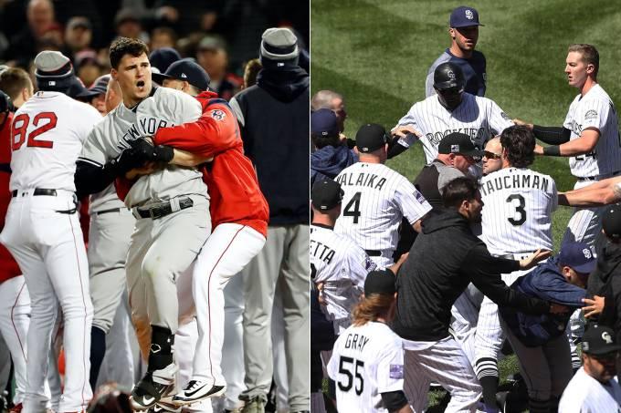 Brigas em dois jogos de beisebol chamam atenção nos EUA