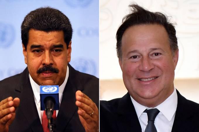 Nicolas Maduro e Juan Carlos Varela