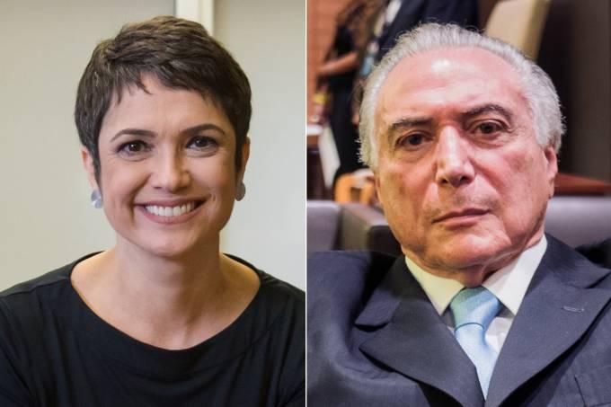 Sandra Annenberg e Michel Temer
