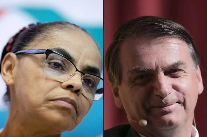 Marina Silva e Jair Bolsonaro
