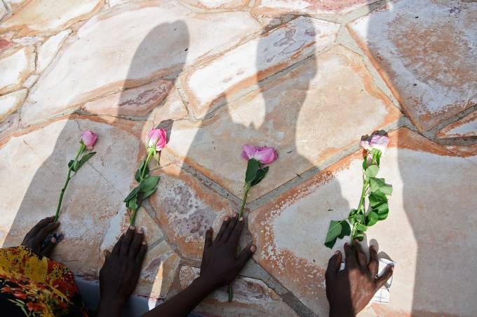 Memorial do genocídio que ocorreu em Ruanda