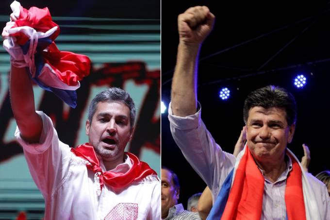 Mario Abdo Benitez e Efraín Alegre