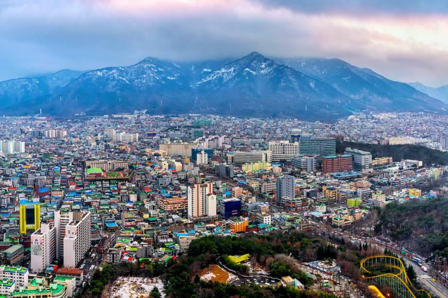 Vista de Pyongyang, na Coreia do Norte