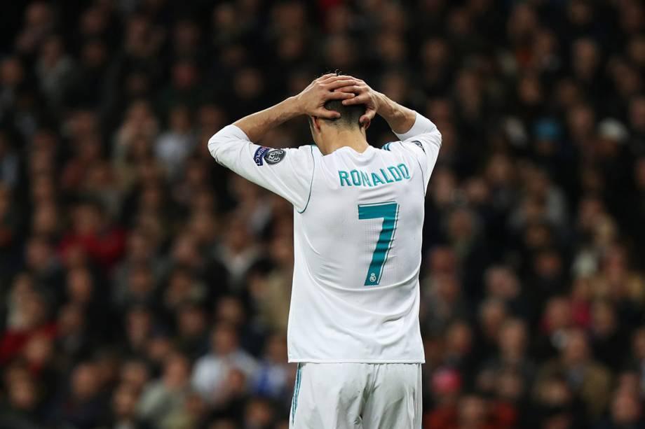 Cristiano Ronaldo reage ao gol da Juventus contra o Real Madrid