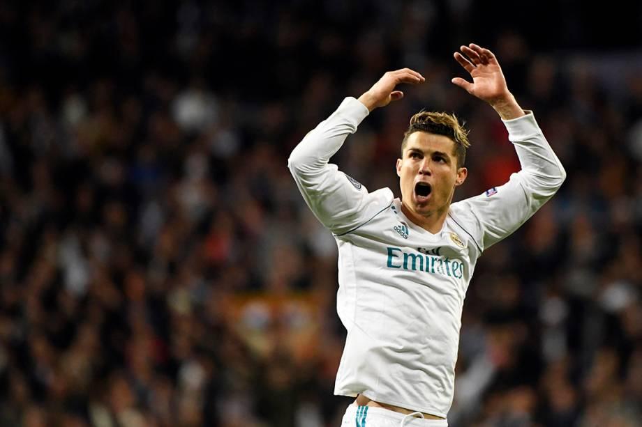 Cristiano Ronaldo comemora gol do Real Madrid contra a Juventus