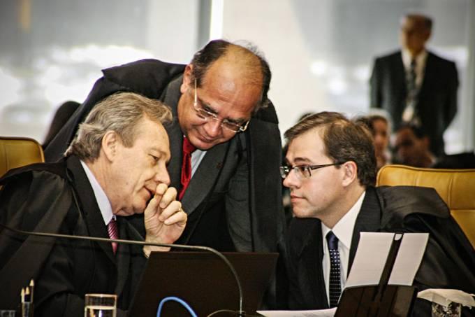 Ricardo Lewandowski, Gilmar Mendes e Dias Toffoli