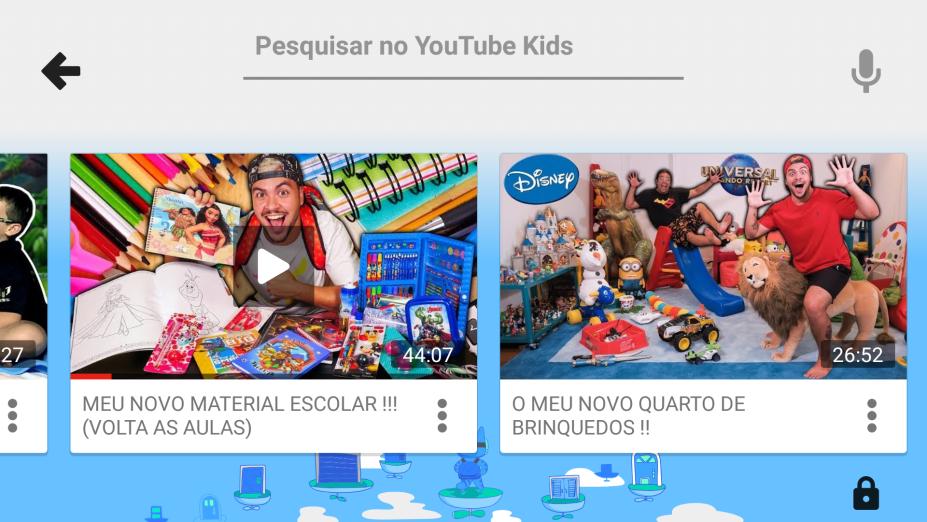 O youtuber Lucas Neto mostra produtos e marcas em vídeos selecionados pelo YouTube Kids.