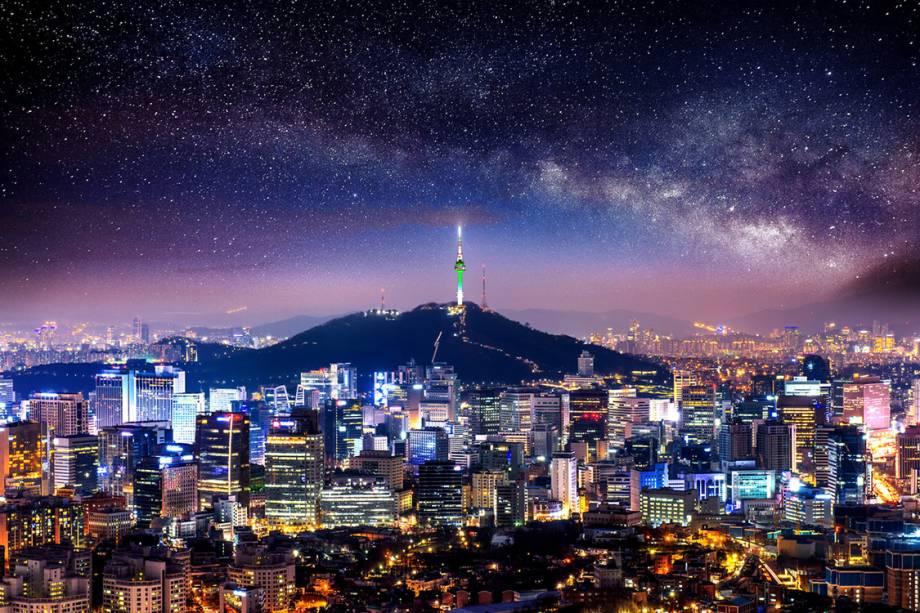 Vista de Seul, na Coreia do Sul