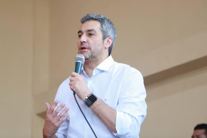 Foto de divulgação do candidato à presidência do Paraguai, Mario Abdo Benítez