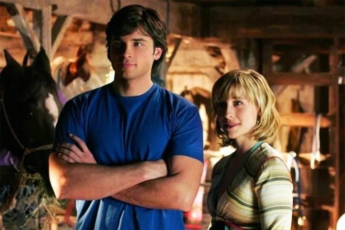 A atriz Allison Mack na série Smallville