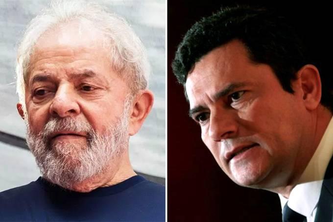 O ex-presidente Lula e o juiz Sergio Moro