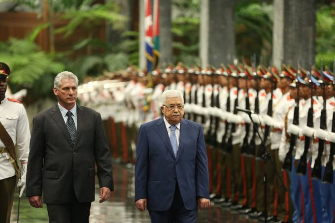 Miguel Diaz-Canel e Mahmoud Abbas