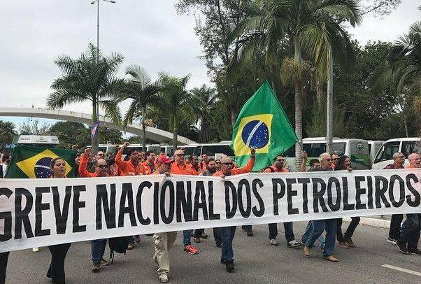 Petroleiros iniciaram nesta quarta-feira (30) a greve de 72 horas da categoria