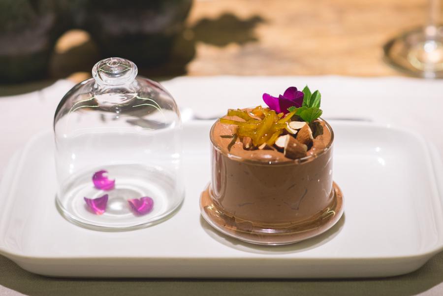 Grand Cru:Mousse de chocolate na sobremesa do jantar