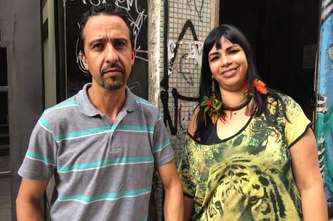 O casal Marcos e Roseli, moradores do prédio no Centro de SP