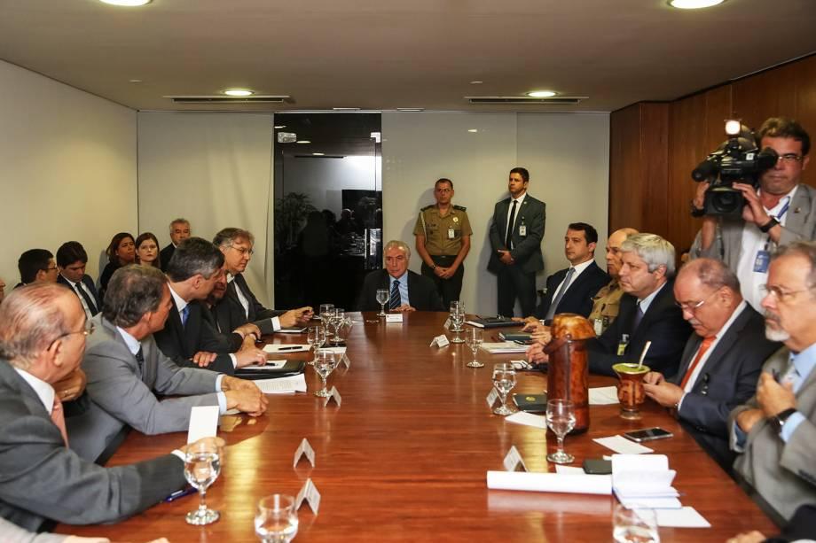 O presidente da República, Michel Temer, se reúne com o GSI - Gabinete de Segurança Institucional, em Brasília (DF), para tratar sobre a greve dos caminhoneiros - 25/05/2018