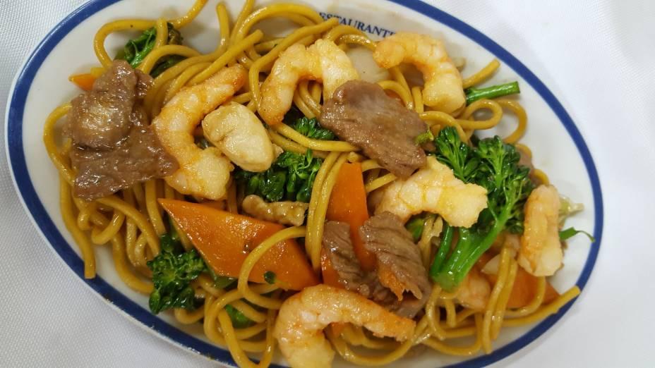 Yakisoba misto:Opção de prato principal no almoço