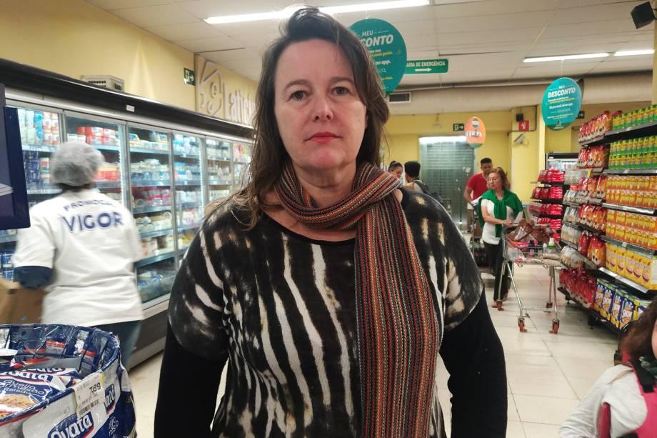 Ana Cristina Lunardi, consumidora do Pão de Açúcar, localizado na Rua Teodoro Sampaio, em Pinheiros, zona oeste de São Paulo (SP) - 29/05/2018