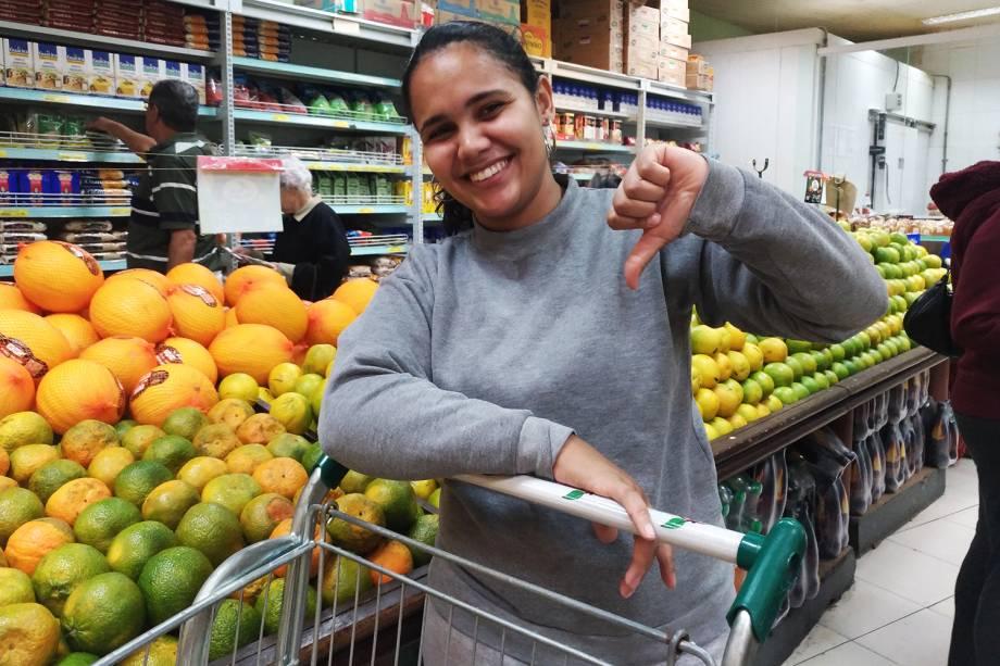 Jhenifer Reis de Andrade, consumidora do Sacolão São Jorge - 29/05/2018