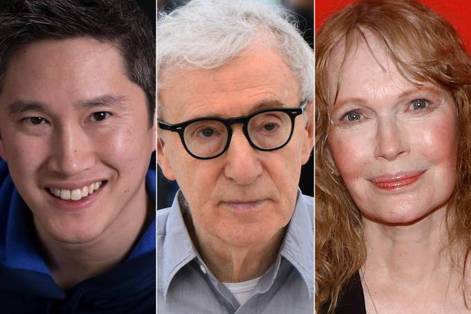 Moses Farrow, Woody Allen e Mia Farrow