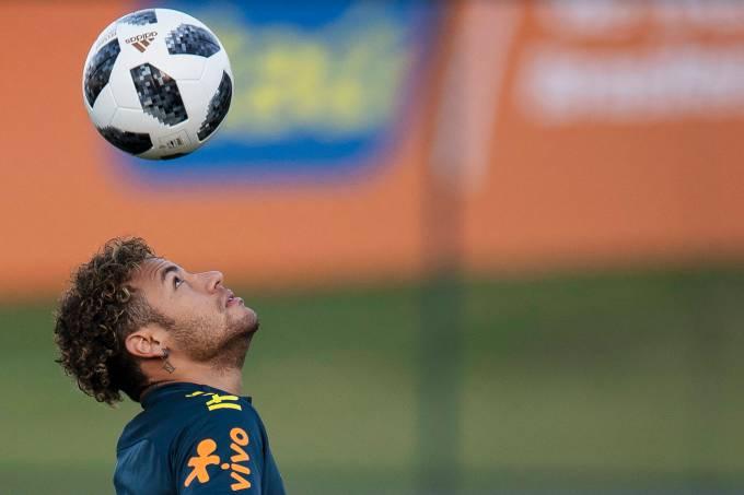 Treino da Seleção Brasileira – Neymar