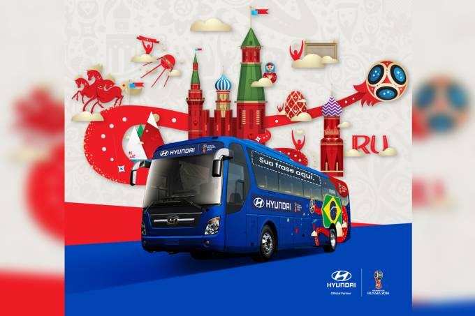 Ônibus da seleção para a Copa do Mundo FIFA 2018