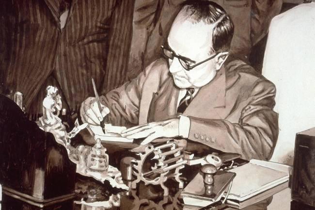 O presidente Getúlio Vargas assina a Lei 2.004, de 1953, que criou a Petrobras e estabeleceu o monopólio estatal do petróleo