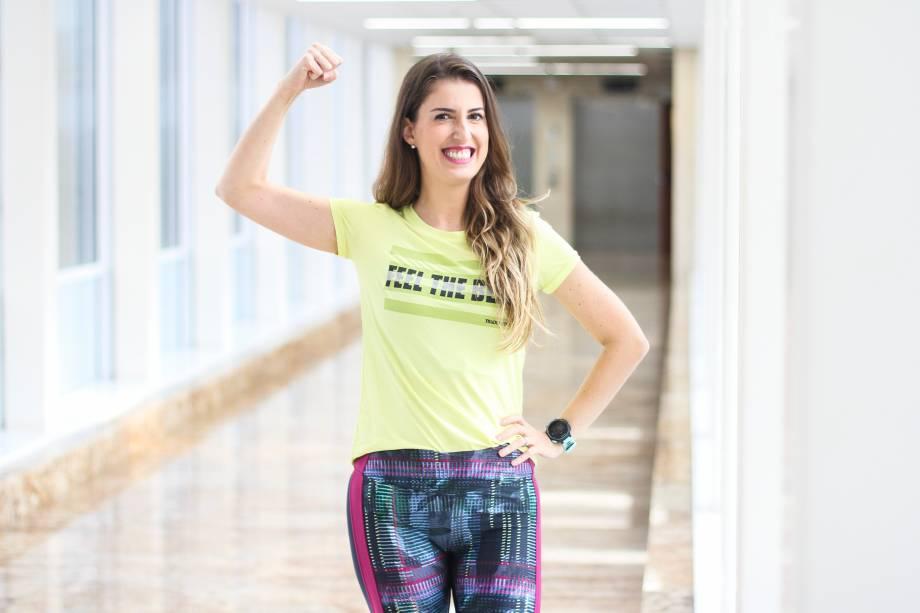 Patrícia Fonseca, economista e triatleta teve o coração transplantado em 2015 no HCor em São Paulo