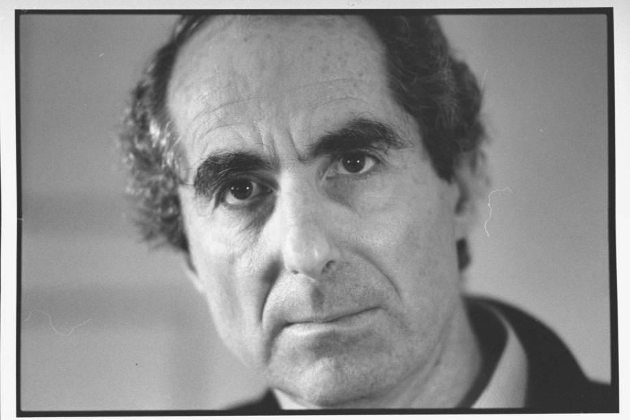 Escritor americano Philip Roth, em 1990
