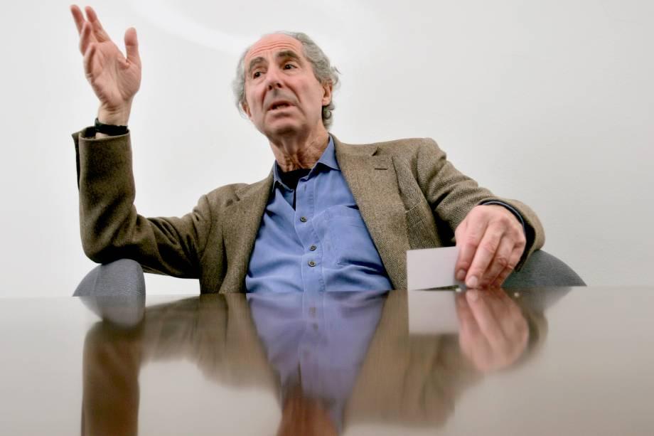 Escritor americano Philip Roth, em Nova York em 2007