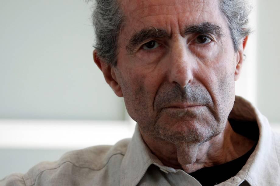 O escritor Philip Roth em retrato feito em Nova York em setembro de 2010
