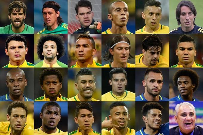 Os 23 jogadores convocados para a Copa do Mundo