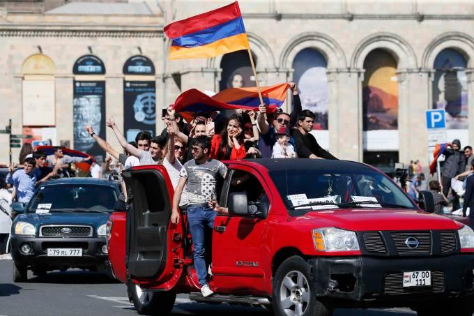 Protesto da oposição na Armênia