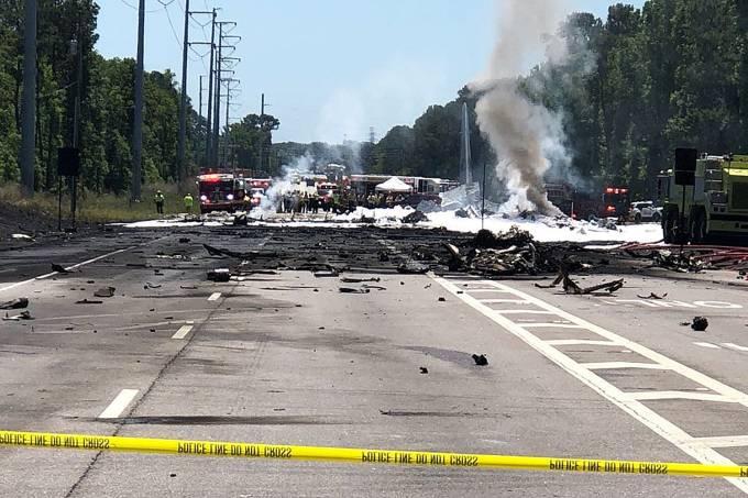 Avião Militar cai em Savannah, Georgia