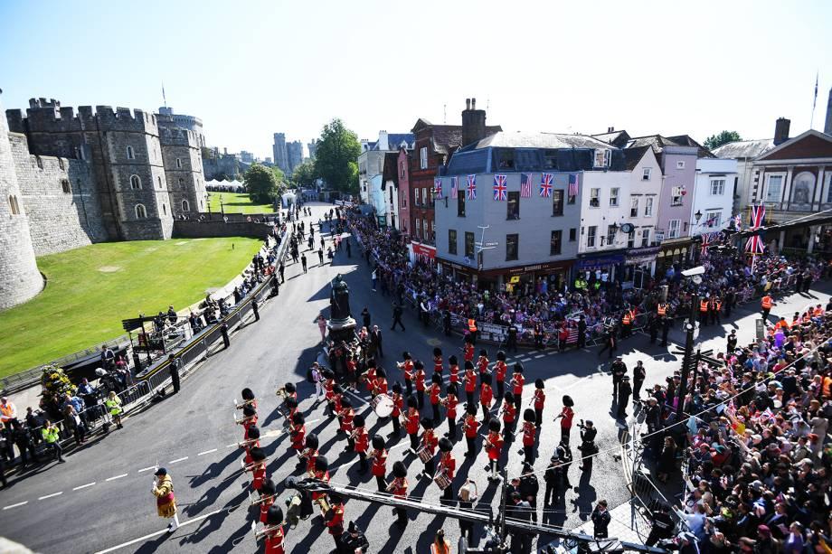 Banda da guarda real realiza apresentação antes do casamento de Harry e Meghan Markle - 19/05/2018